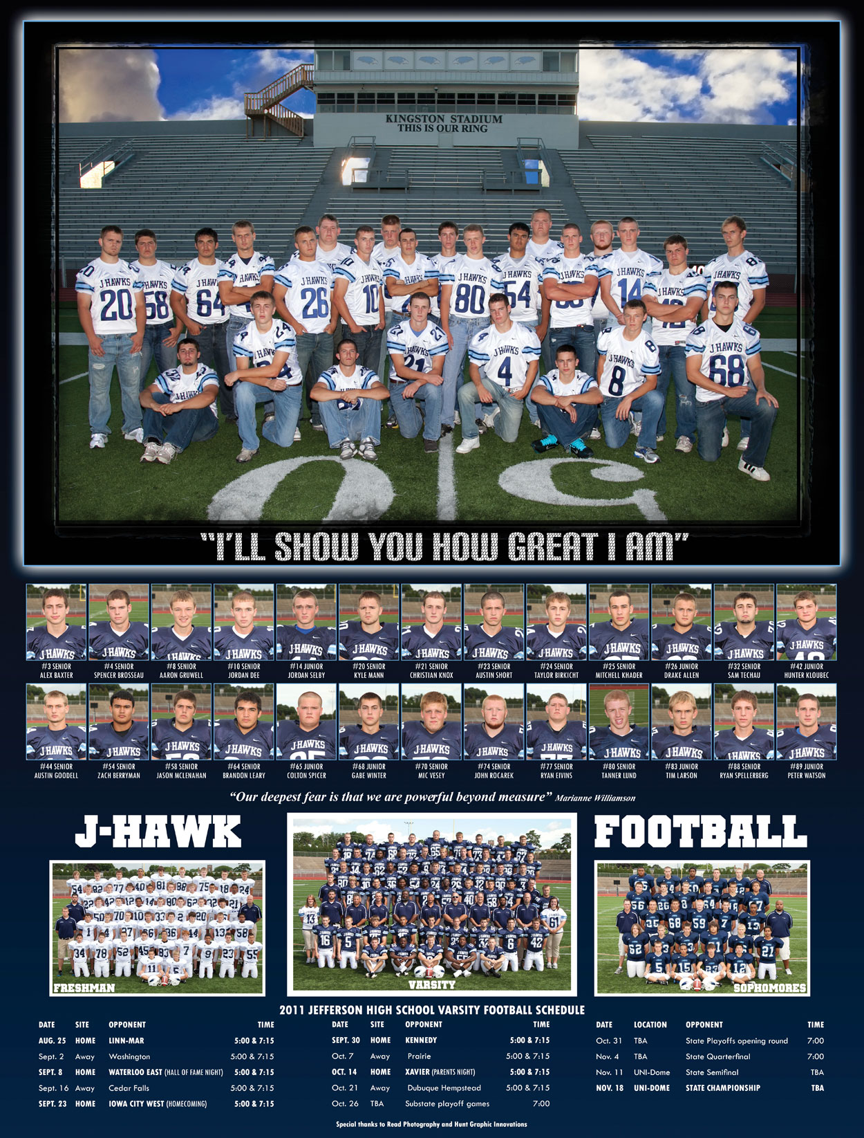 high school football posters more information