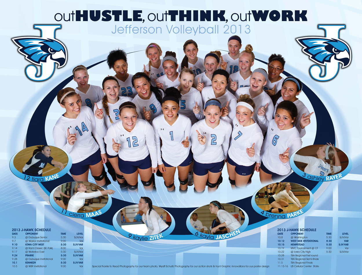 High School Volleyball Posters High School Volleyball