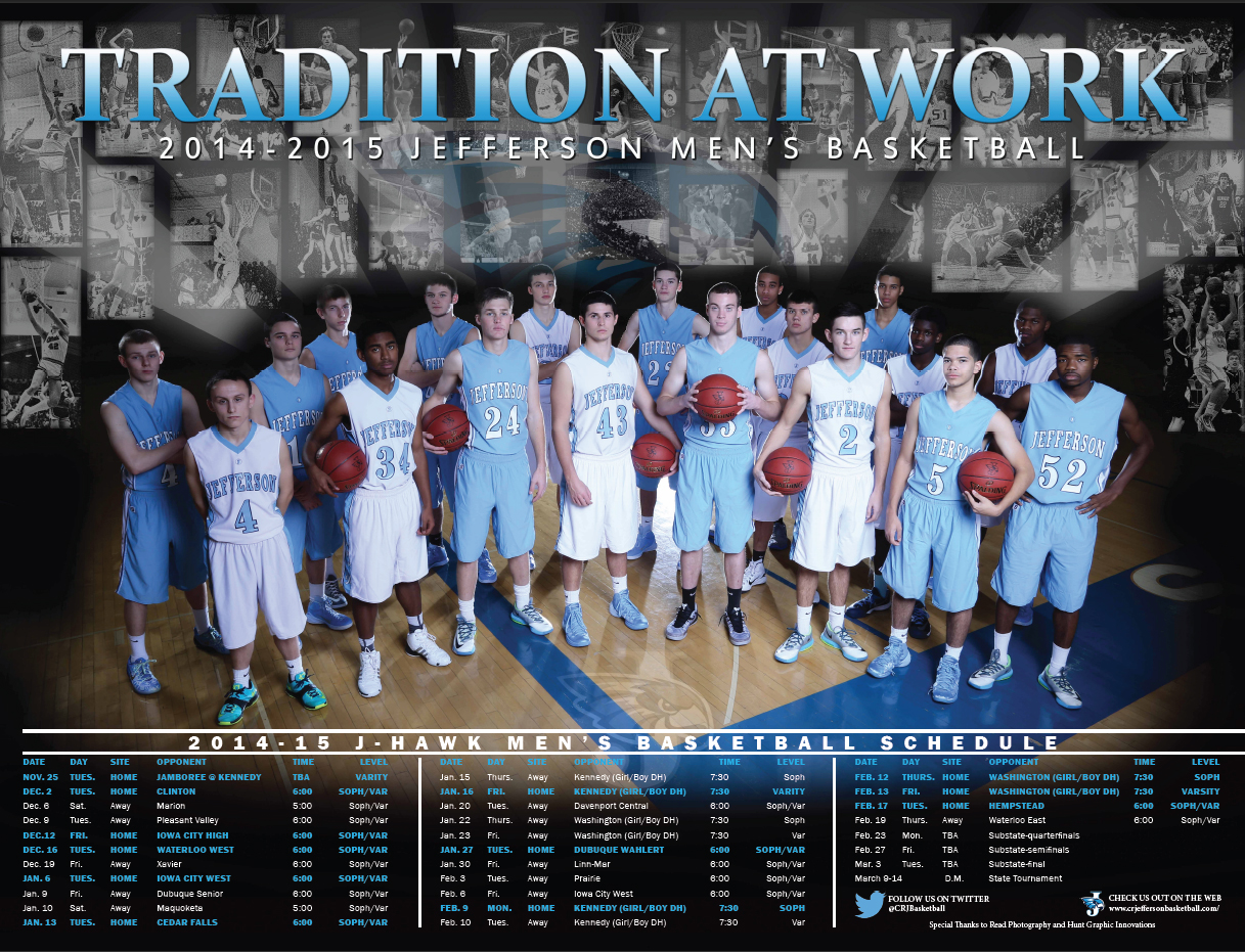 Boys Basketball Posters Basketball Schedule Poster
